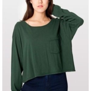 AMERICAN APPAREL green long sleeve shirt